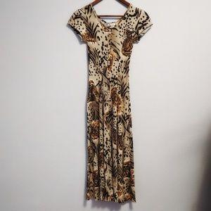 Vintage 90s La Fetê Animal Print Dress